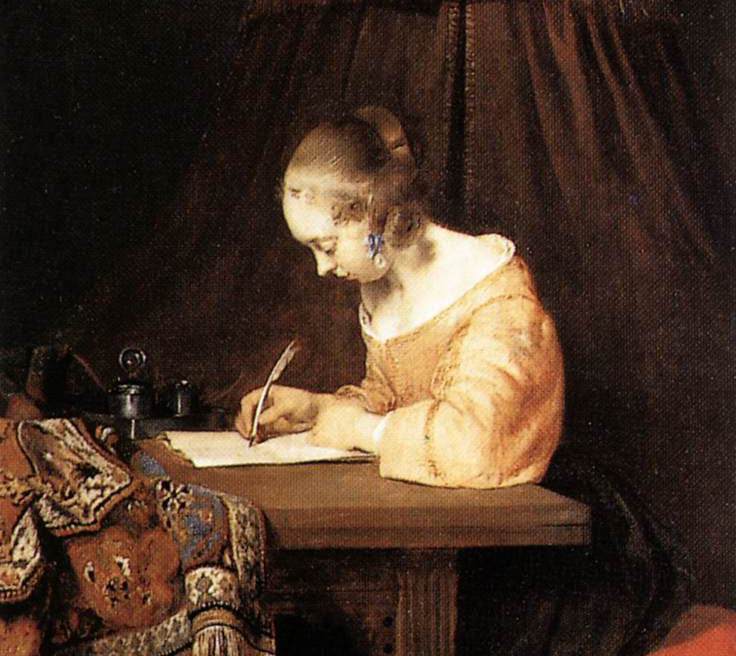 Woman-writing-a-letter-gerard-terborch
